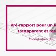 Le Cedap contribue au pré-rapport sur la transparence du lobbying