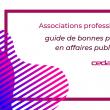 Guide de bonnes pratiques en affaires publiques