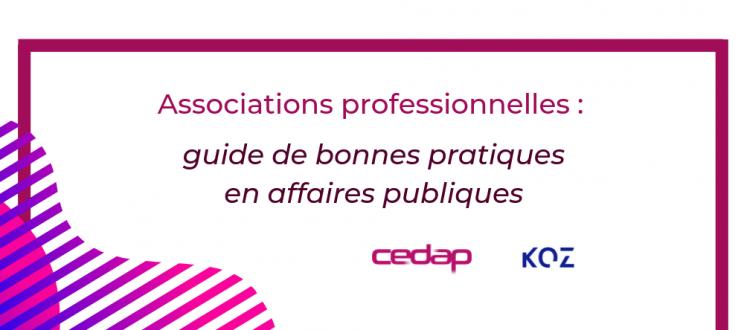 Communiqué de presse - Guide de bonnes pratiques en affaires publiques